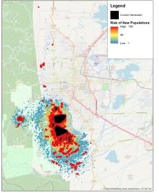 Dispersal Risk Map